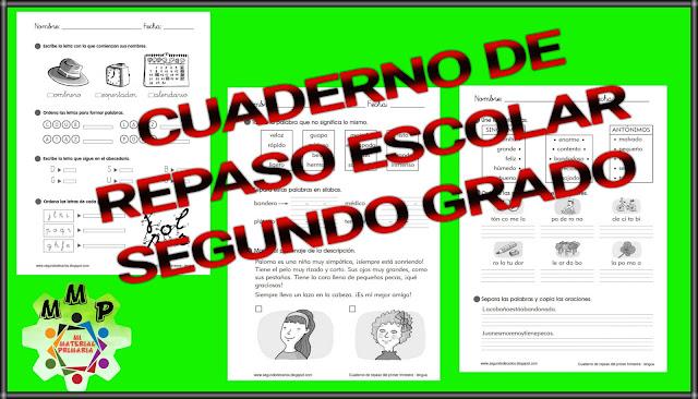 CUADERNO DE REPASO-SEGUNDO GRADO