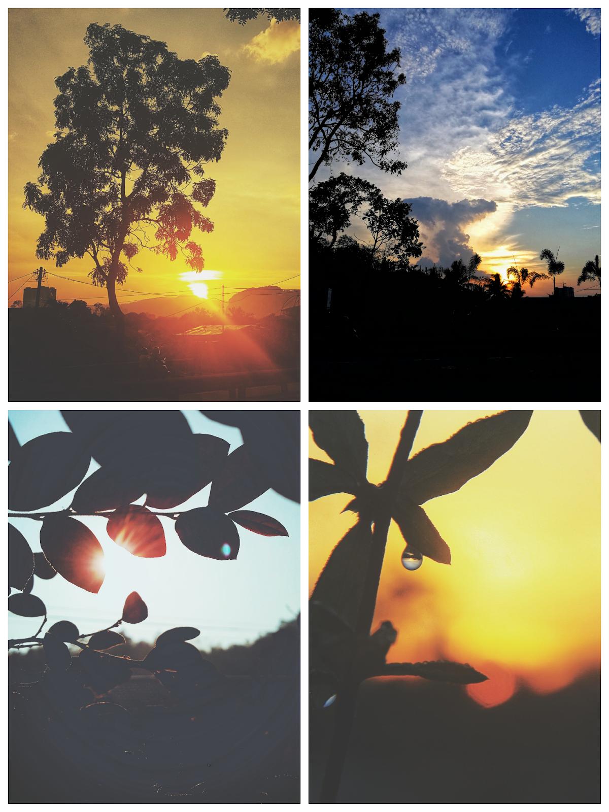 Matahari terbit dan terbenam di Gombak