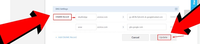 Add Custom Domain Name To Blogger