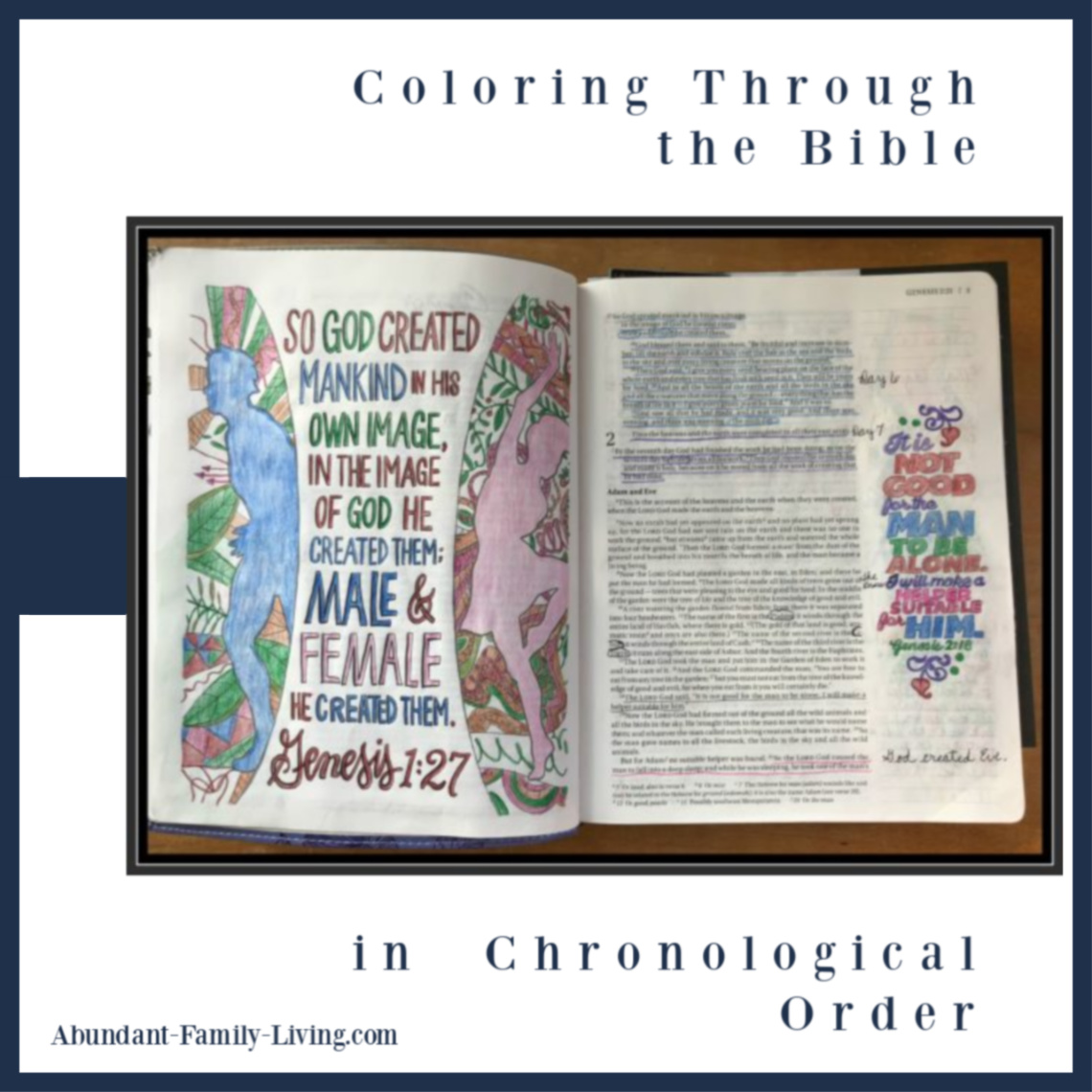 Coloring Through the Bible in Chronological Order