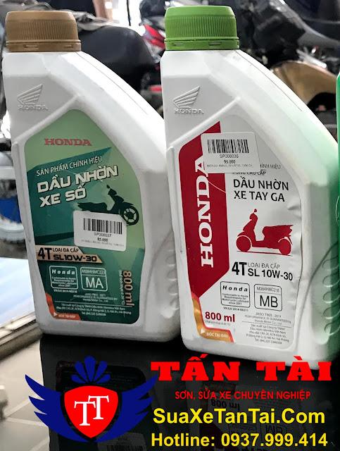 Tổng hợp những loại dầu nhớt Honda chính hãng