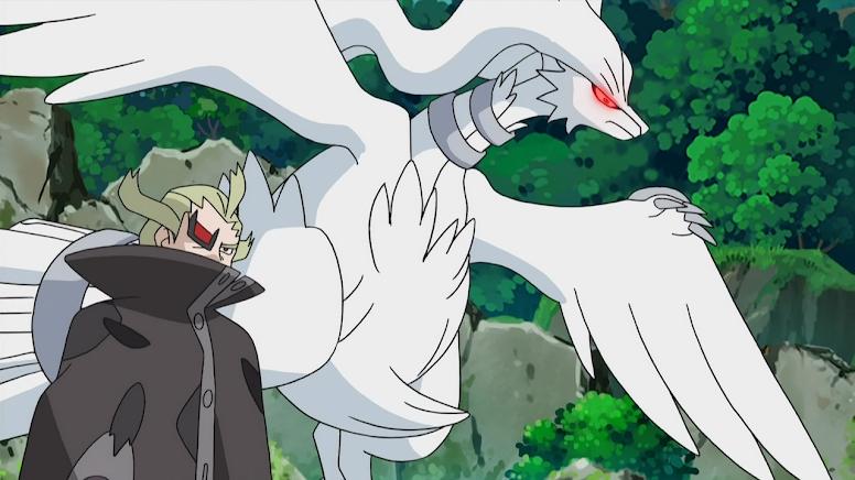 Ghetsis e Reshiram Anime Pokémon