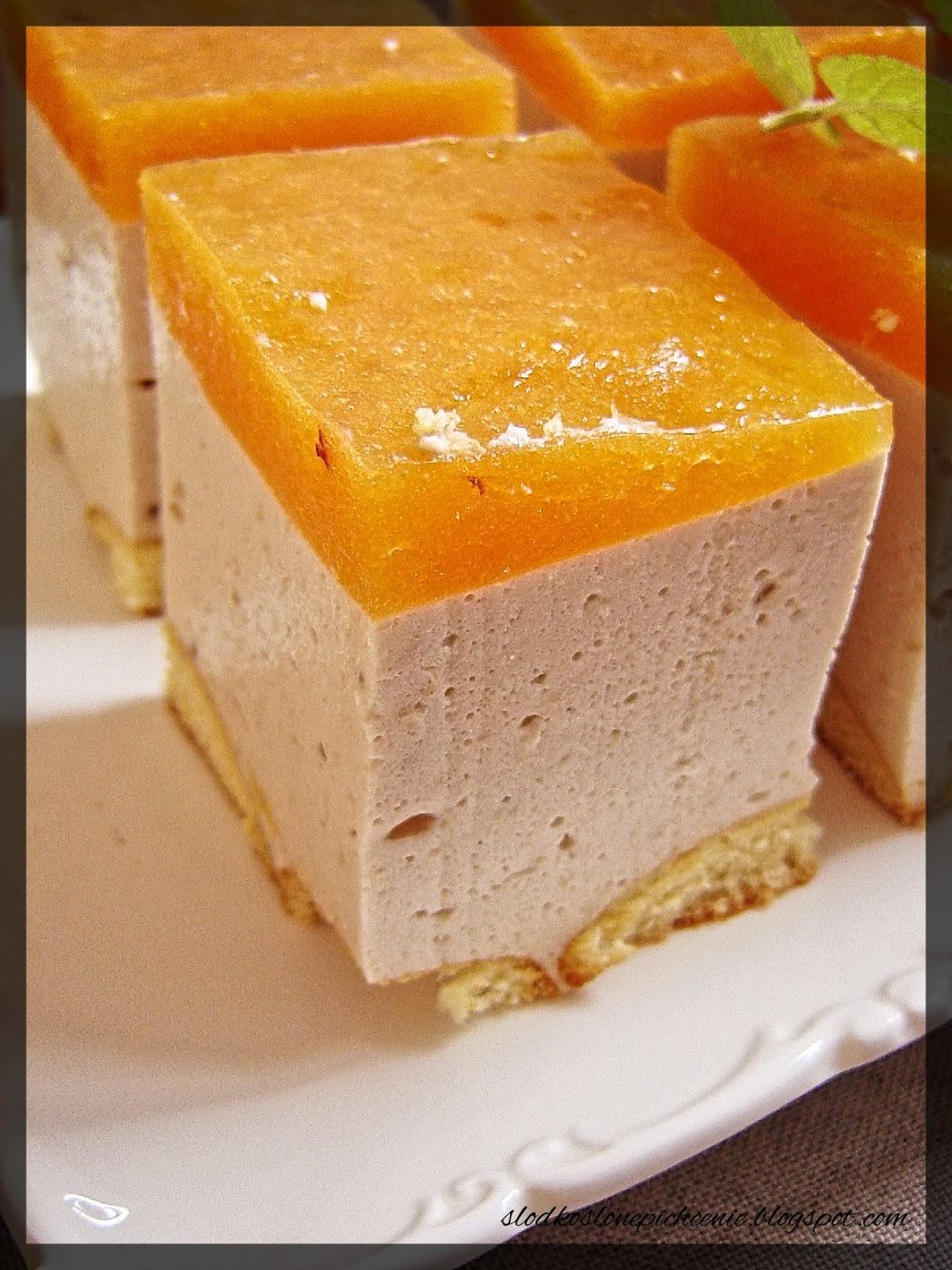 Sernik bananowo-brzoskwiniowy (bez pieczenia)