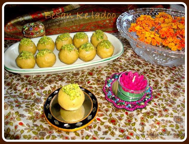 images of Besan Ladoo / Besan Ke Ladoo / Besan Ke Laddu Recipe