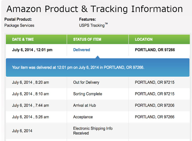 AMAZON Tracking Information