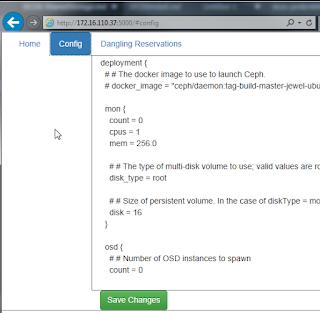 Ceph web interface
