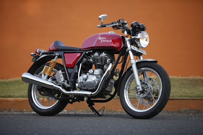 Royal Enfield Continental GT Red cafe racer side image