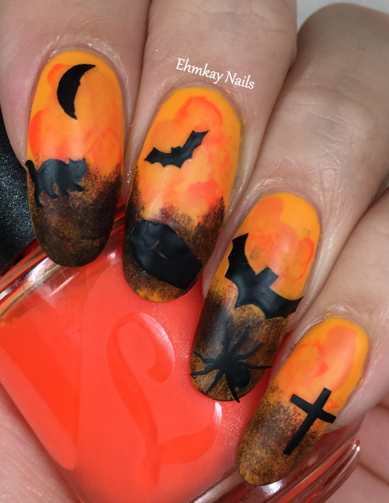 ehmkay nails: Halloween Nail Art with Halloween Spooky ...