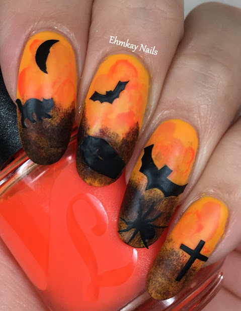 ehmkay nails halloween nail art