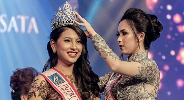 Clarita Mawarni Salem Dinobatkan Jadi Putri Pariwisata 2019