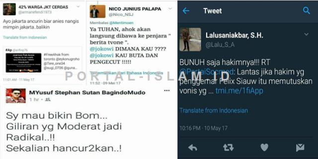 Makin Gila! Ini Ancaman-ancaman Ahoker: Dari Ancurin Jakarta Sampai Bunuh Hakim