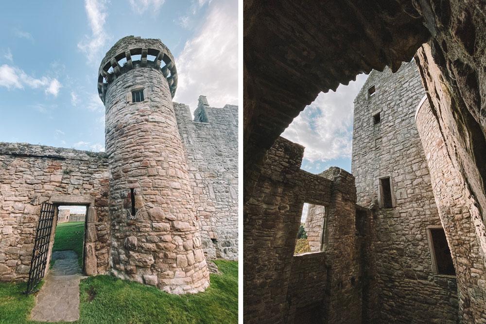 travel blogger Amanda Martin visits Craigmillar Castle