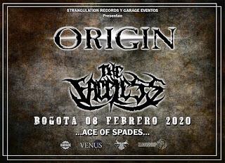 Concierto de ORIGIN y The Faceless en Bogotá 2020