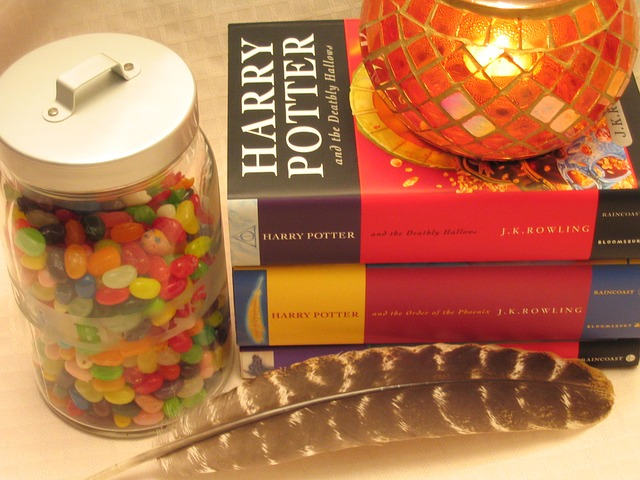 Harry Potter book stack
