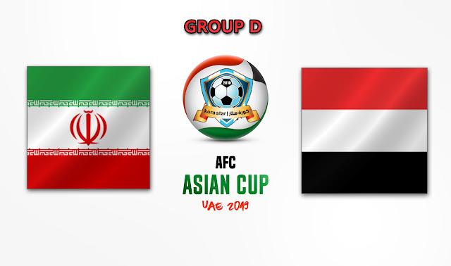 مشاهدة مباراة اليمن وايران بث مباشر 07-01-2019 كأس أسيا