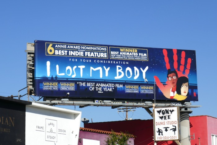I Lost My Body Annie Awards nominee billboard