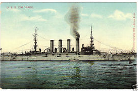 A Postcard Depicting the U.S.S. Colorado (ca. 1908)