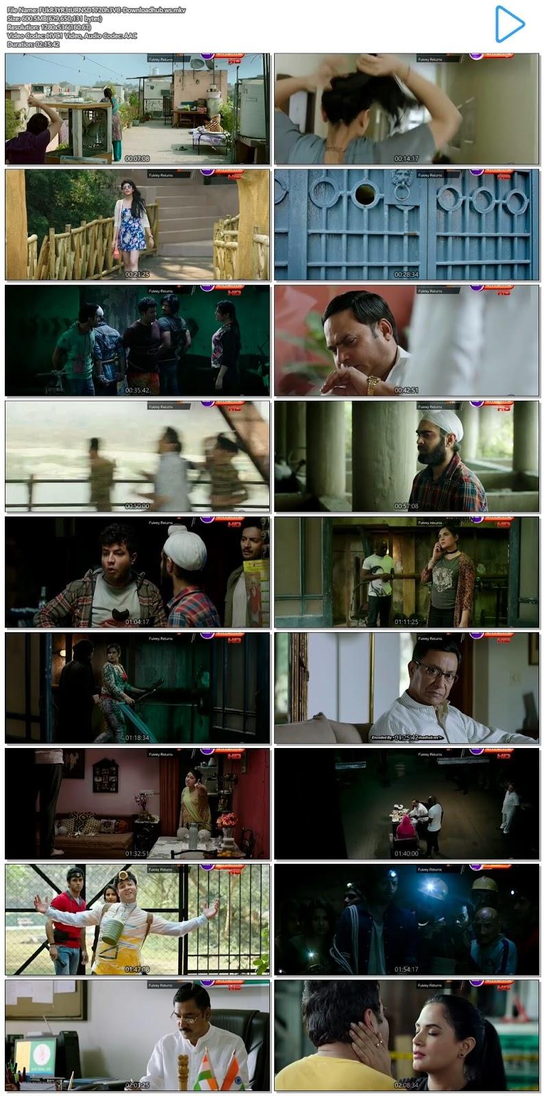 Fukrey Returns 2017 Hindi 720p HEVC DTHRip