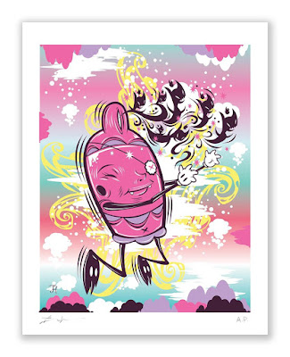 """Designer Con 2019 Exclusive """"Chasing Your Demons"""" Giclee Print by Thomas Han x Silent Stage Gallery"""