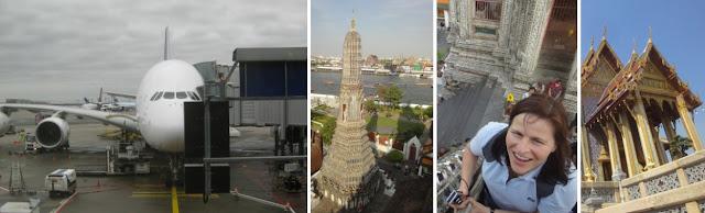 Impressionen aus Bangkok - Flug mit Thai A380, Wat Arun, Großer Palast