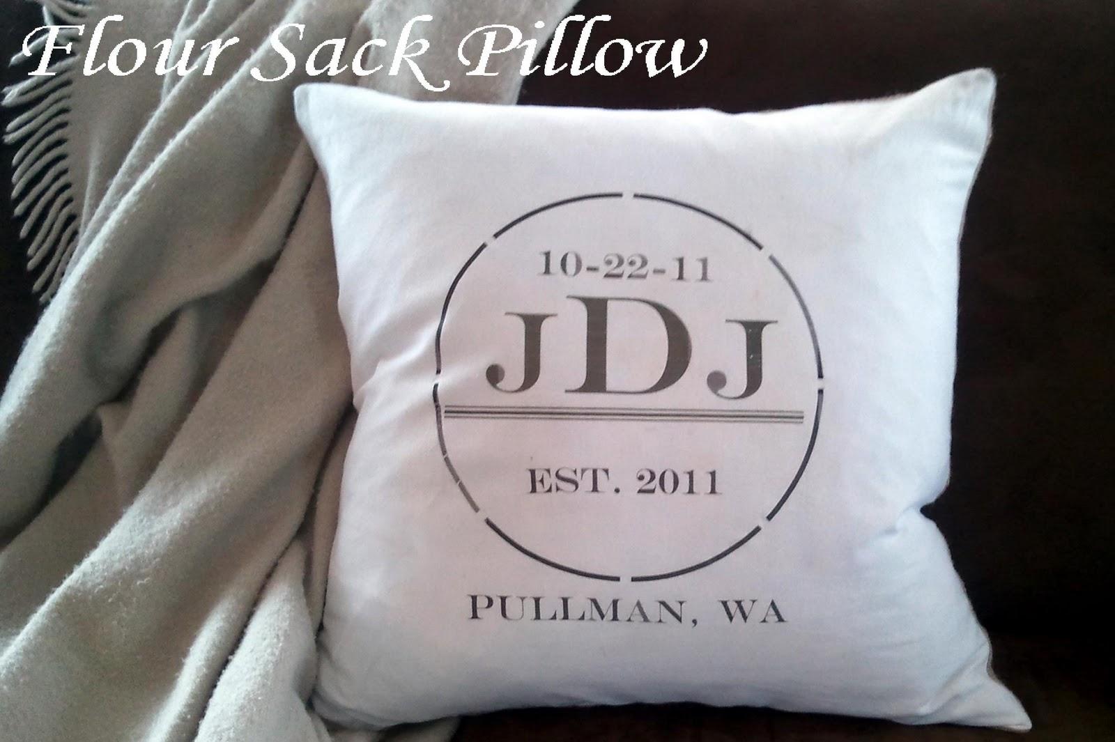 Stardust Designs: Flour Sack Pillow