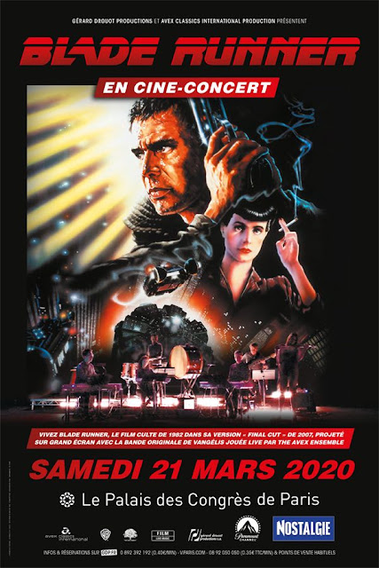 Rendez-vous le 21 mars 2020 au Palais des Congrès pour le cine concert de Blade Runner.