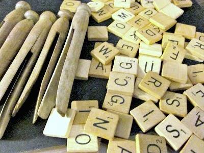 Scrabble Jenga Christmas Ornaments