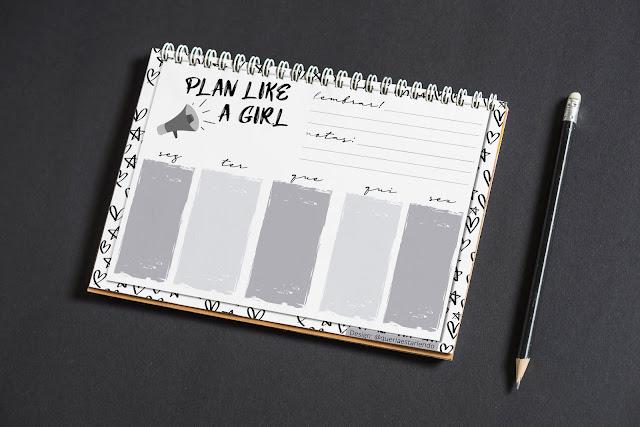 Planner preto e branco