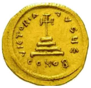 Dinar Romawi Bergambar Salib