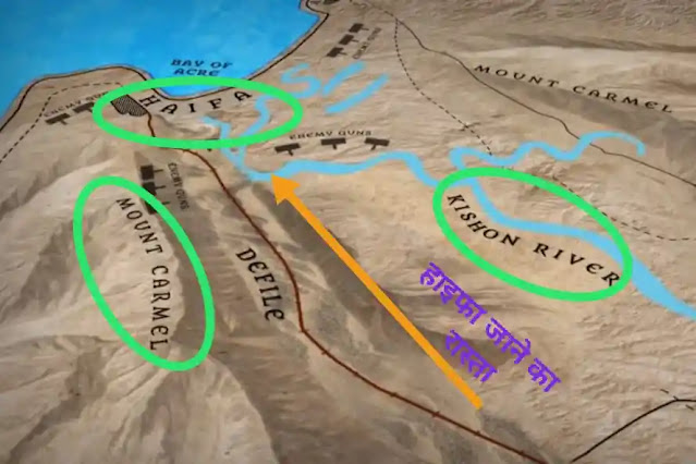 Battle of Haifa map view