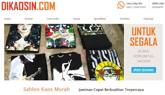 Tempat Bikin Kaos Distro Harga Terjangkau dikaosin.com