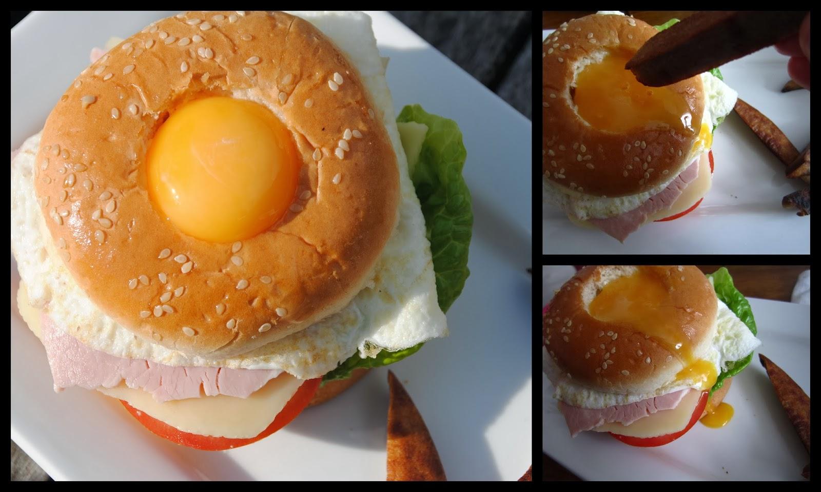 Ca bouffe un Doberman: Burger façon crêpe complète et frites de