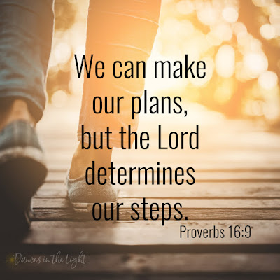 We can make our plans, but God determines our steps.