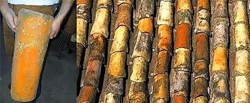 telhado feito nas coxas