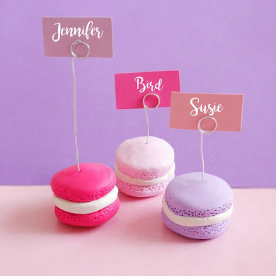 DIY Macaron Place-Card Holders