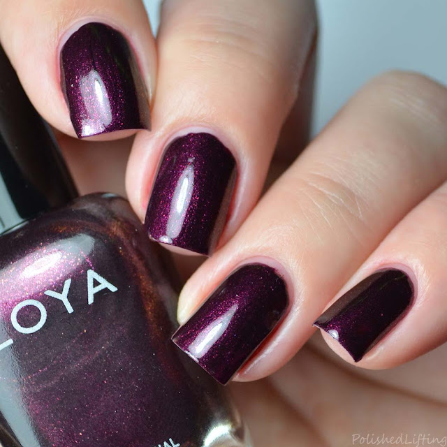 purple shimmer metallic nail polish