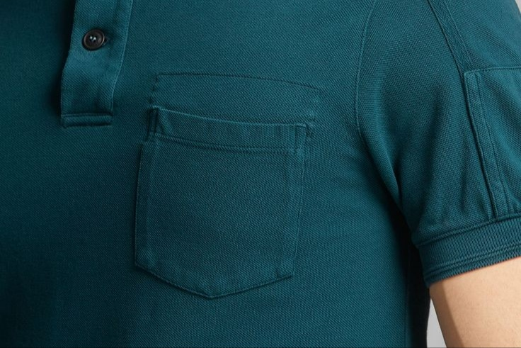 Pocket of a polo t-shirt's
