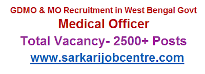 WBHRB Medical Officer Recruitment Vacancy 2020