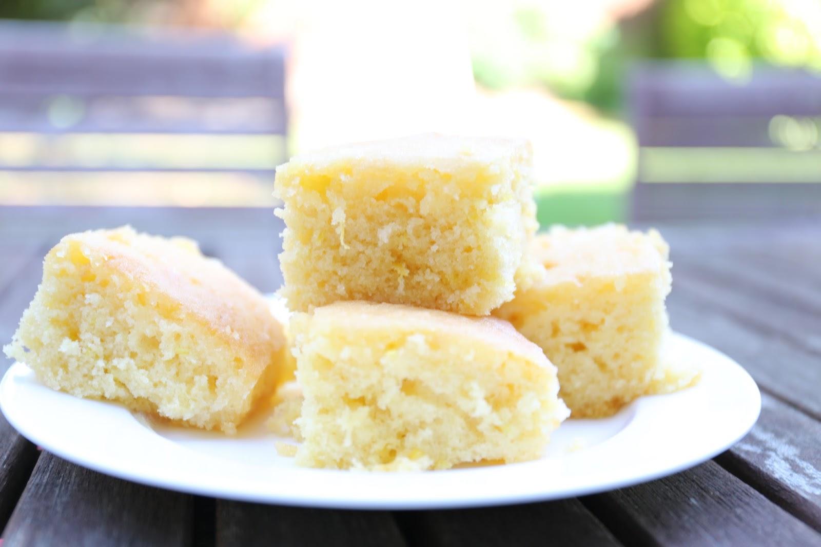 Watch Mary Berry's Lemon Drizzle Traybake Recipe video