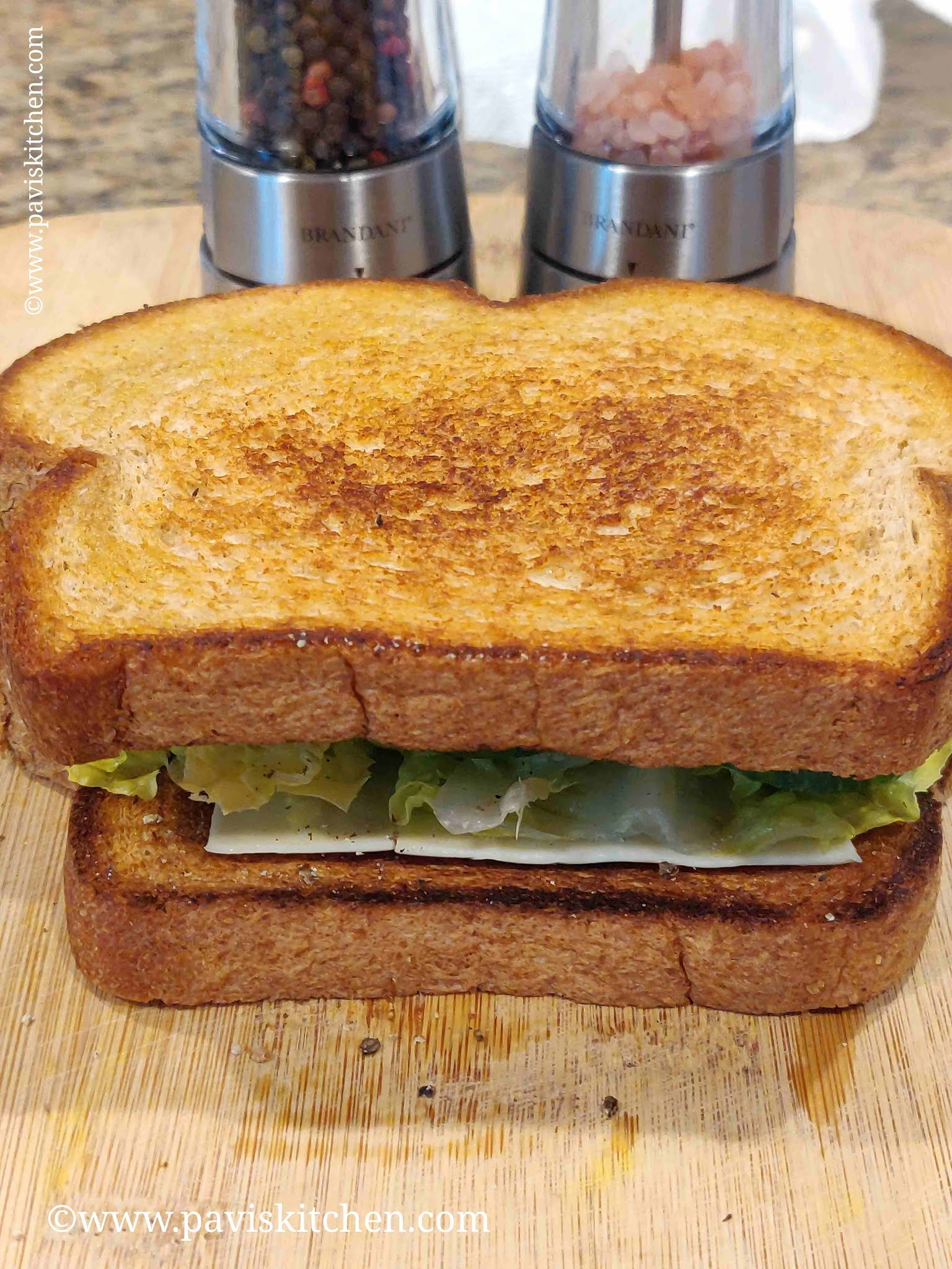 Veg cheese sandwich recipe | Indian vegetable cheese sandwich | on tawa/without grill