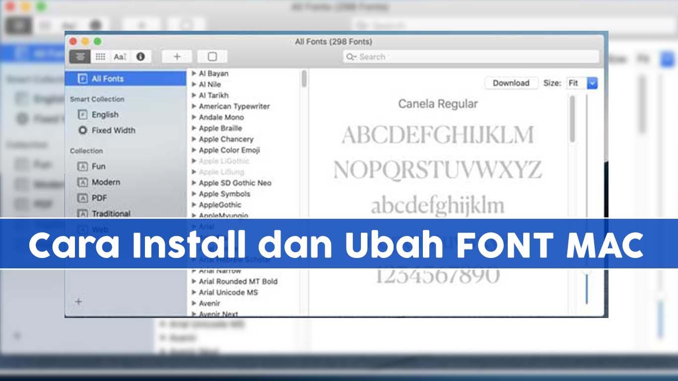 Bagaimana Cara Menginstal Font di MacOS?