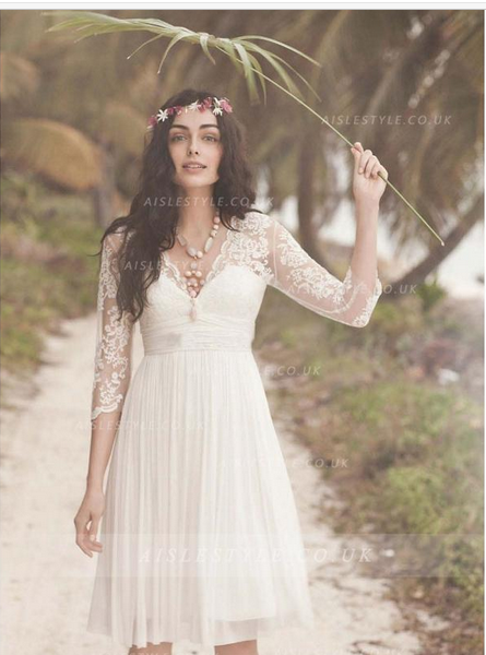 http://www.aislestyle.co.uk/charming-aline-v-neck-34-length-sleeve-short-chiffon-wedding-dress-p-205.html