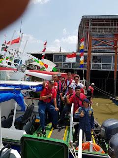 Dukung Pelaksanaan Asian Games, Jajaran KSOP Dan Disnav Palembang Jadi Awak Bus Air