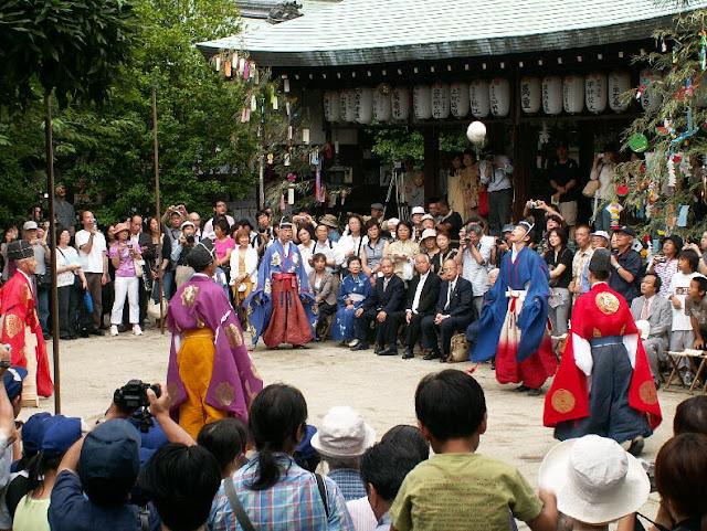 Kemari on Tanabata day - Sei Daimyojin Reisai at Shiramine Jingu Shrine, Kyoto