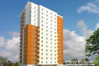 Desain 3d bangunan apartment 15lantai Murah Berkualitas