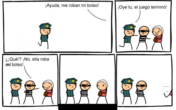 Historieta ladron y policia