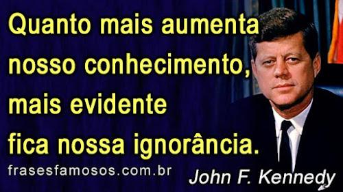 Frase do ex presidente americano: John F. Kennedy