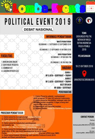 Lomba Debat Nasional POLITE UB 2019 Mahasiswa