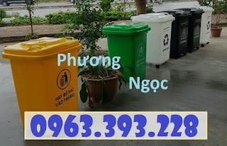 Thùng rác y tế 60L nắp kín, thùng rác y tế 4 bánh xe F22a7cf92923cb7d9232