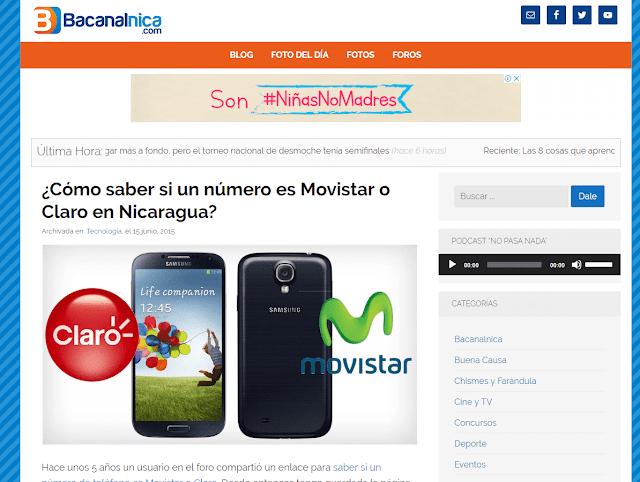 prefijos claro nicaragua